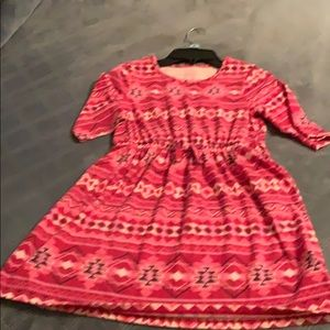 Girls Faded Glory red print dress, size 7-8